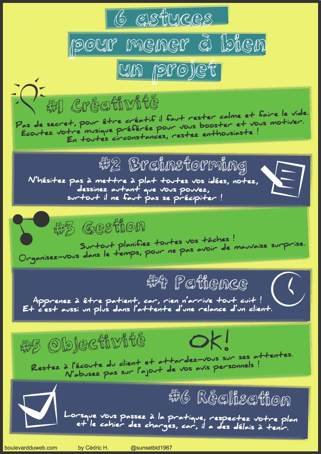 6 astuces pour mener à bien un projet